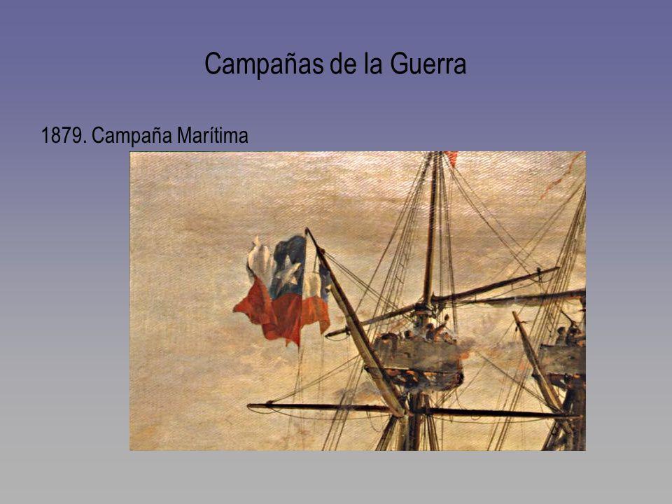 Campañas de la Guerra 1879. Campaña Marítima
