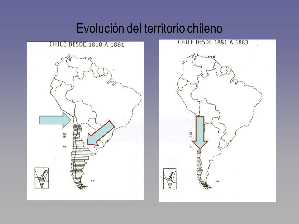 Evolución del territorio chileno