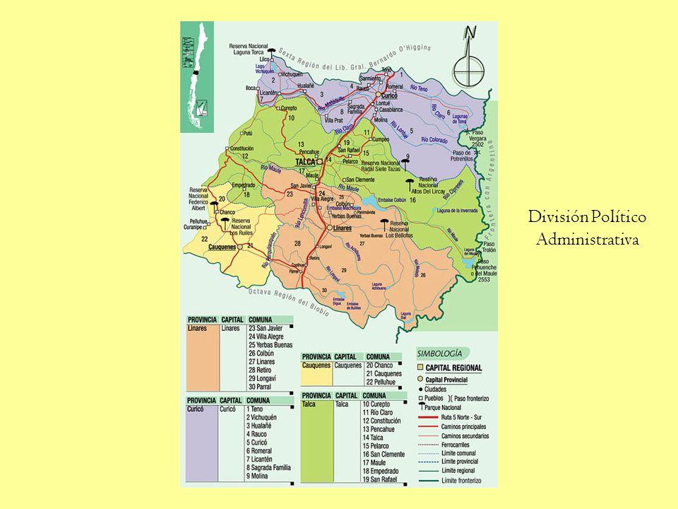 Organización del territorio nacional Región: Unidad territorial mayor con características geográficas e intereses sociales, económicos y culturales si