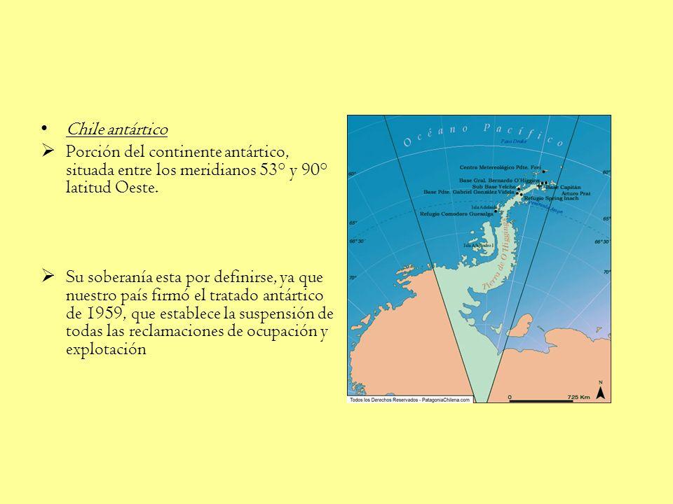 El territorio chileno insular, ubicado en el área de Oceanía, corresponde a las islas : San Félix y San Ambrosio Las polinésicas Isla de Pascua, Sala