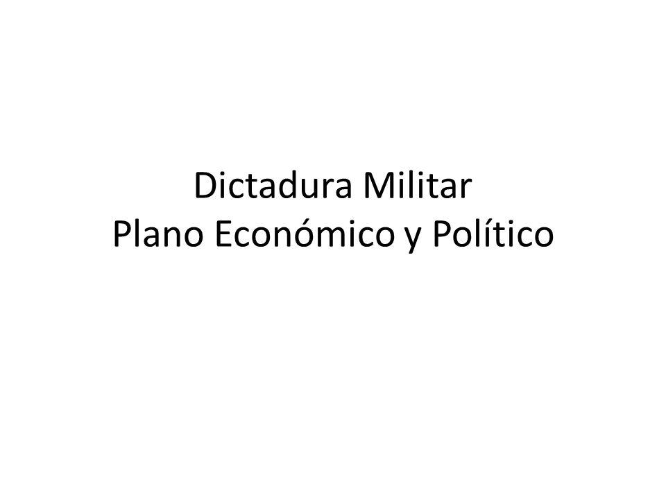 Dictadura Militar Plano Económico y Político