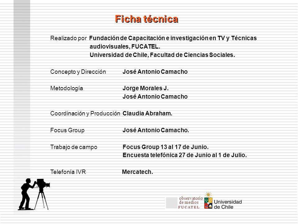 Realizado por Fundación de Capacitación e investigación en TV y Técnicas audiovisuales, FUCATEL.