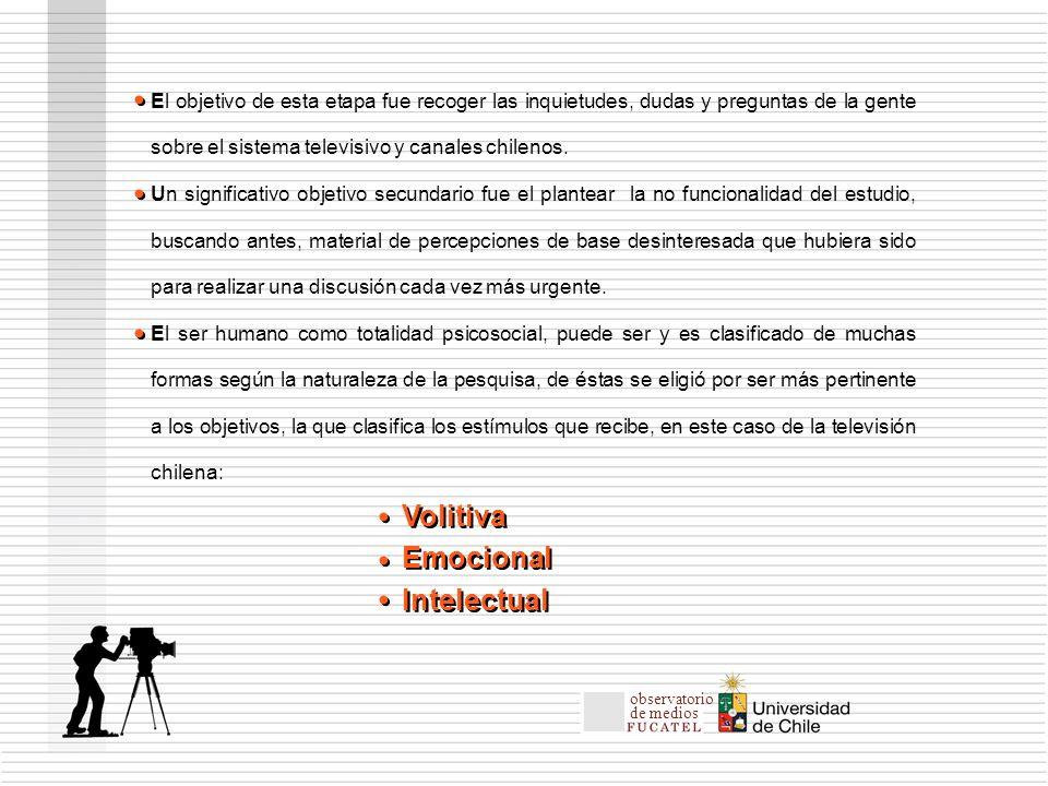 El objetivo de esta etapa fue recoger las inquietudes, dudas y preguntas de la gente sobre el sistema televisivo y canales chilenos.