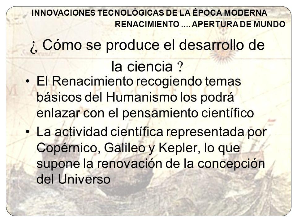 Teoría Geocéntrica INNOVACIONES TECNOLÓGICAS DE LA ÉPOCA MODERNA RENOVACIÓN DE LA CONCEPCIÓN DEL UNIVERSO