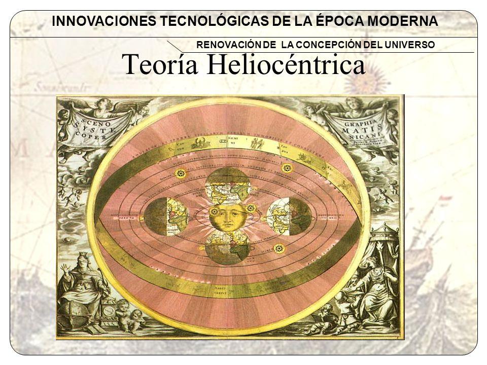 INNOVACIONES TECNOLÓGICAS DE LA ÉPOCA MODERNA RENOVACIÓN DE LA CONCEPCIÓN DEL UNIVERSO Repercusiones Nuevo orden en la alineación de los planetas según sus periodos de rotación.