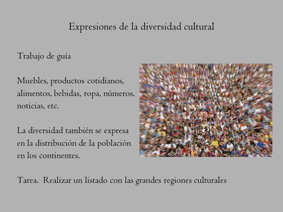 La cultura, la base de la expresión humana La diversidad es cultural, presentando un mundo con cientos de culturas particulares. ¿Qué es cultura? Es l