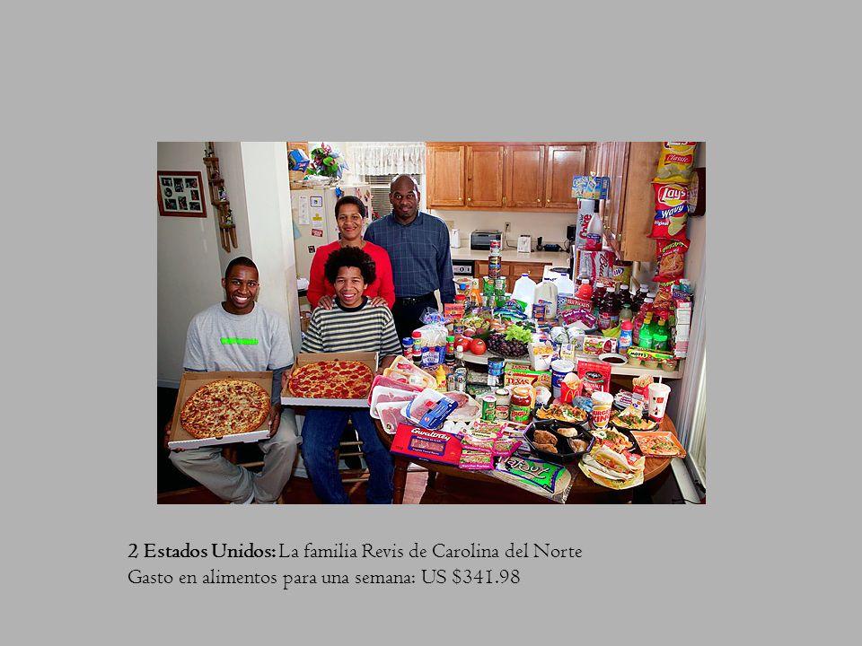 2 Estados Unidos: La familia Revis de Carolina del Norte Gasto en alimentos para una semana: US $341.98