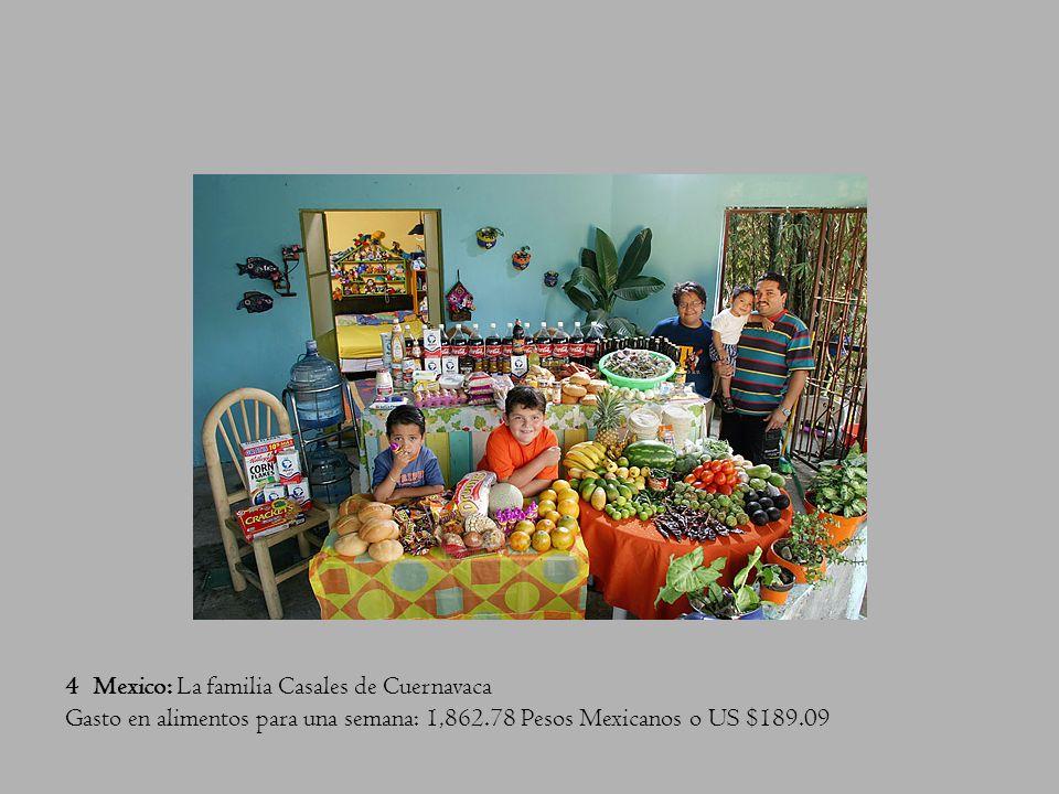 3 Italia: La familia Manzo de Sicilia Gasto en alimentos para una semana: 214.36 Euros o US $260.11