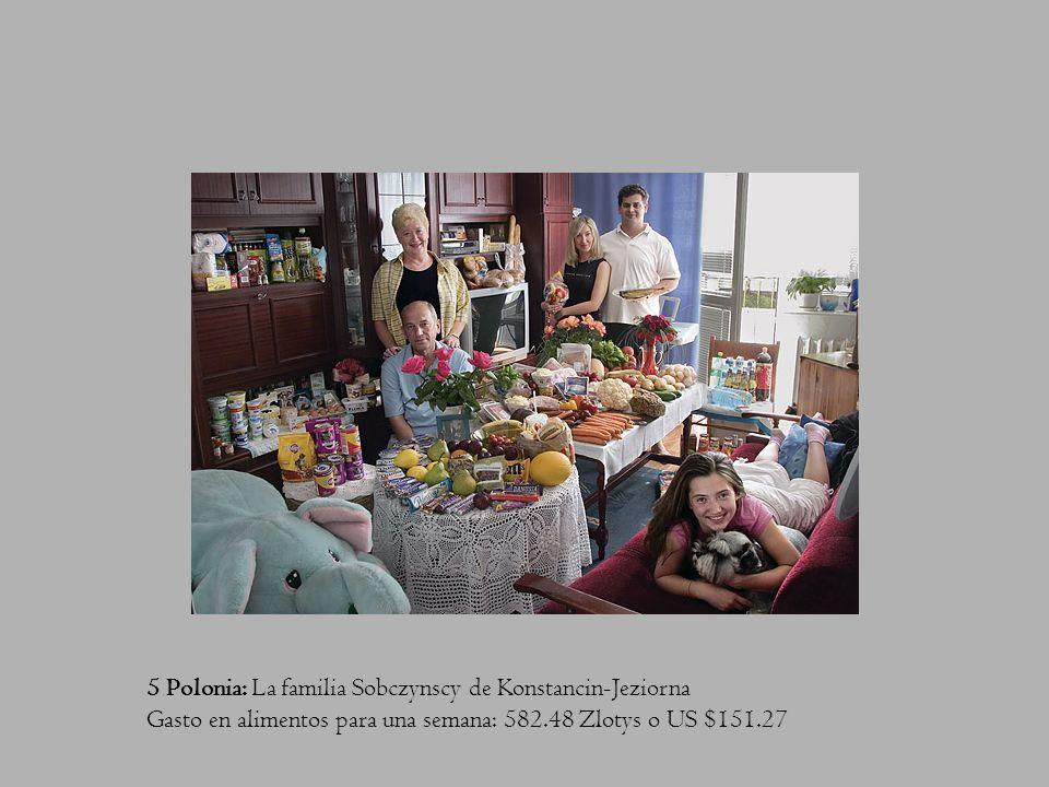 4 Mexico: La familia Casales de Cuernavaca Gasto en alimentos para una semana: 1,862.78 Pesos Mexicanos o US $189.09