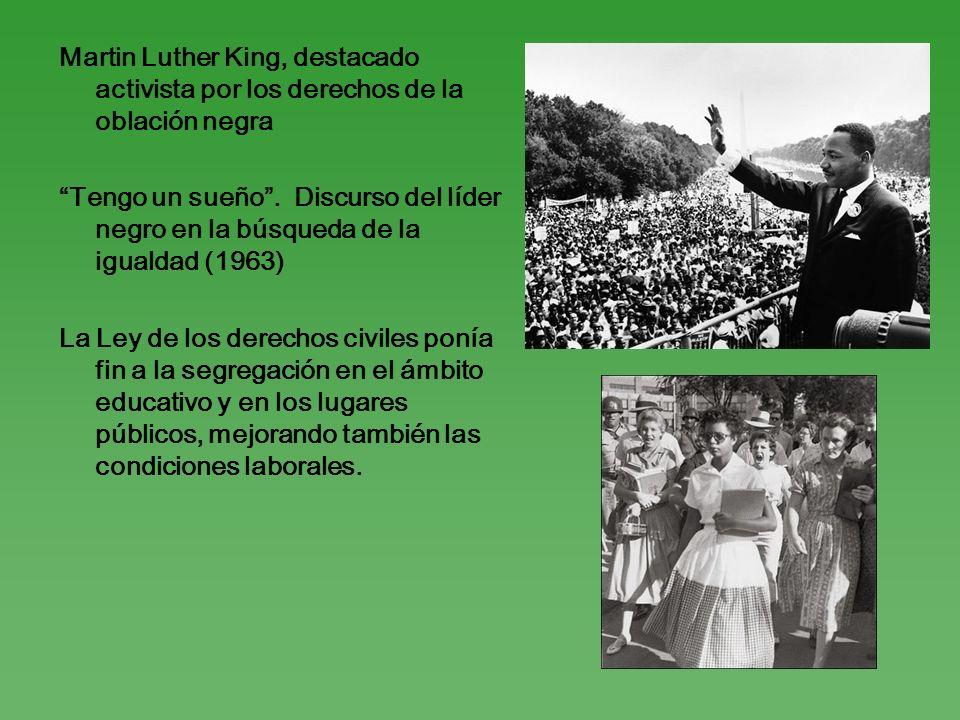 Martin Luther King, destacado activista por los derechos de la oblación negra Tengo un sueño. Discurso del líder negro en la búsqueda de la igualdad (