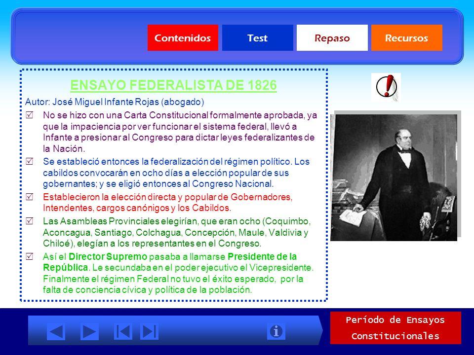 Ensayos Constitucionales 1823-1830 CONSTITUCIÓN MORALISTA DE 1823: Autor: Juan Egaña Risco (jurista). Características: El poder Ejecutivo: ejercido po
