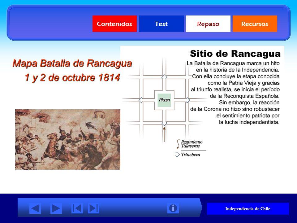 ContenidosTestRepasoRecursos Mapa Batallas de la Independencia (haz clic para aumentar)
