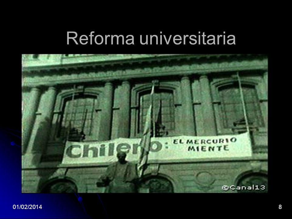 Reforma universitaria 01/02/20148