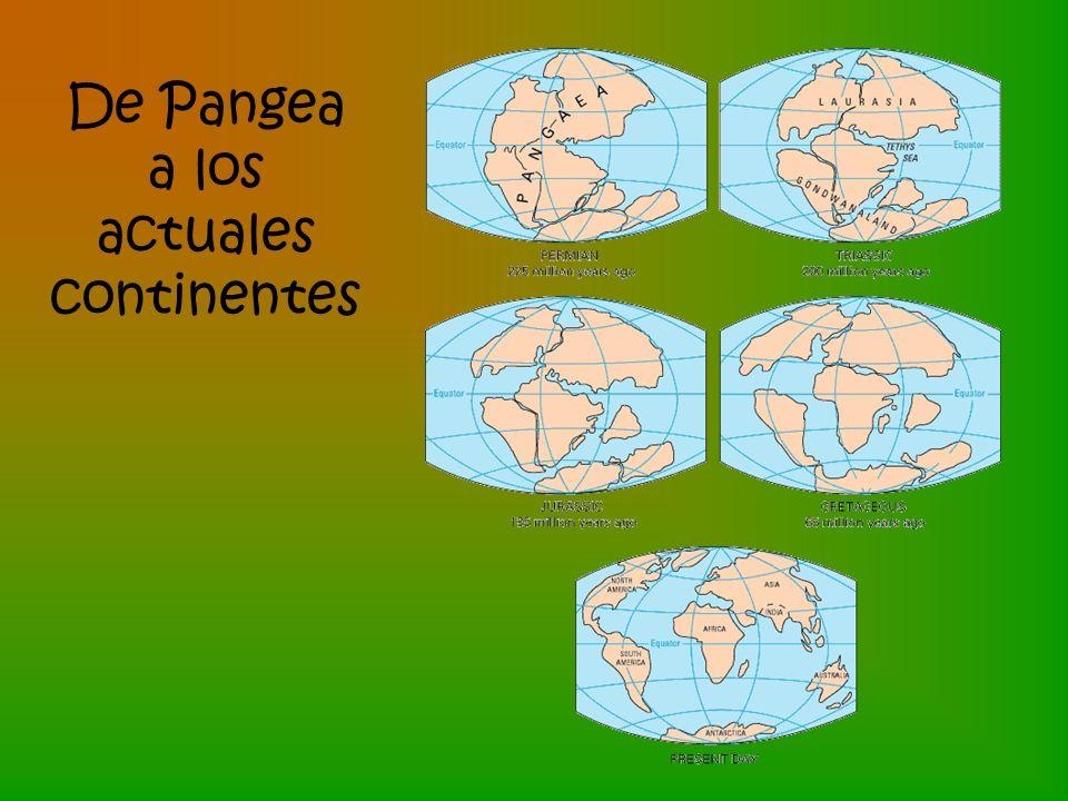 De Pangea a los actuales continentes