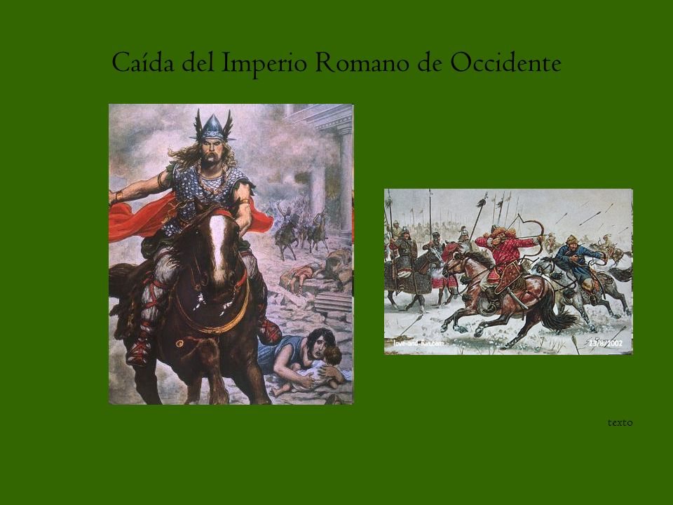 Caída del Imperio Romano de Occidente texto