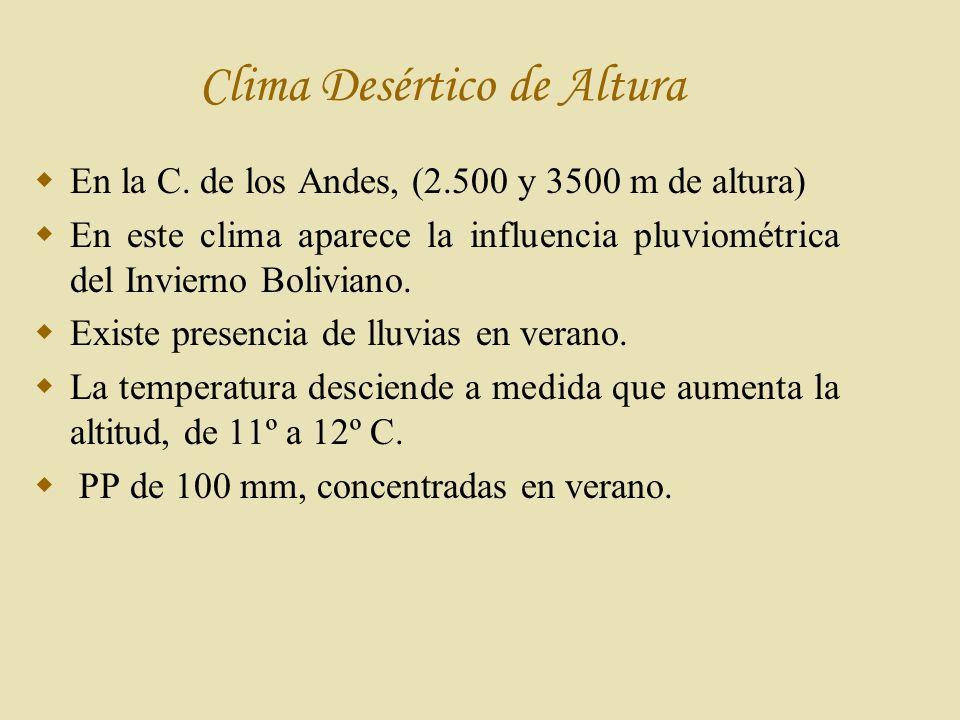 C lima Desértico de Altura En la C.