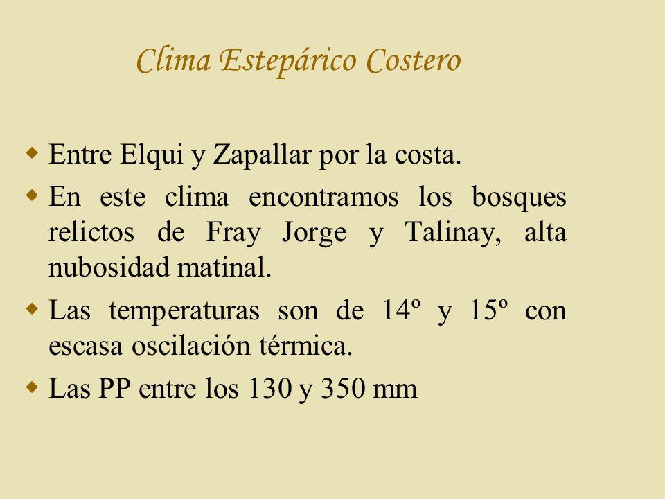 C lima Estepárico Costero Entre Elqui y Zapallar por la costa.