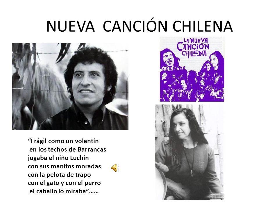 NUEVA CANCIÓN CHILENA Frágil como un volantín en los techos de Barrancas jugaba el niño Luchín con sus manitos moradas con la pelota de trapo con el g