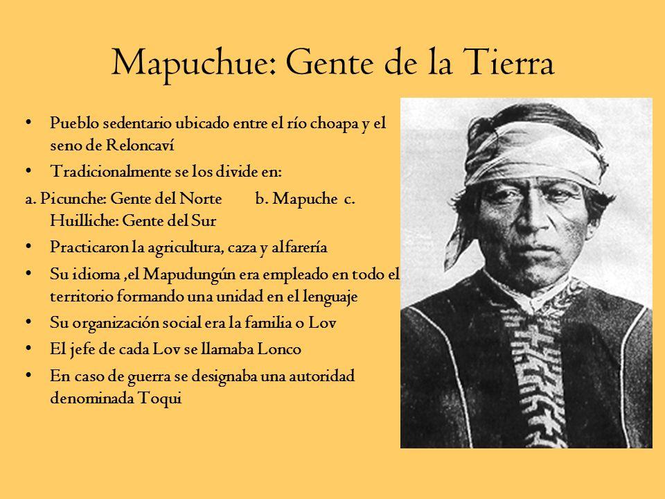 Pueblos Indígenas Zona Central (Picunche) Mapuche(Huilliche)Pehuenche (sector cordillerano)
