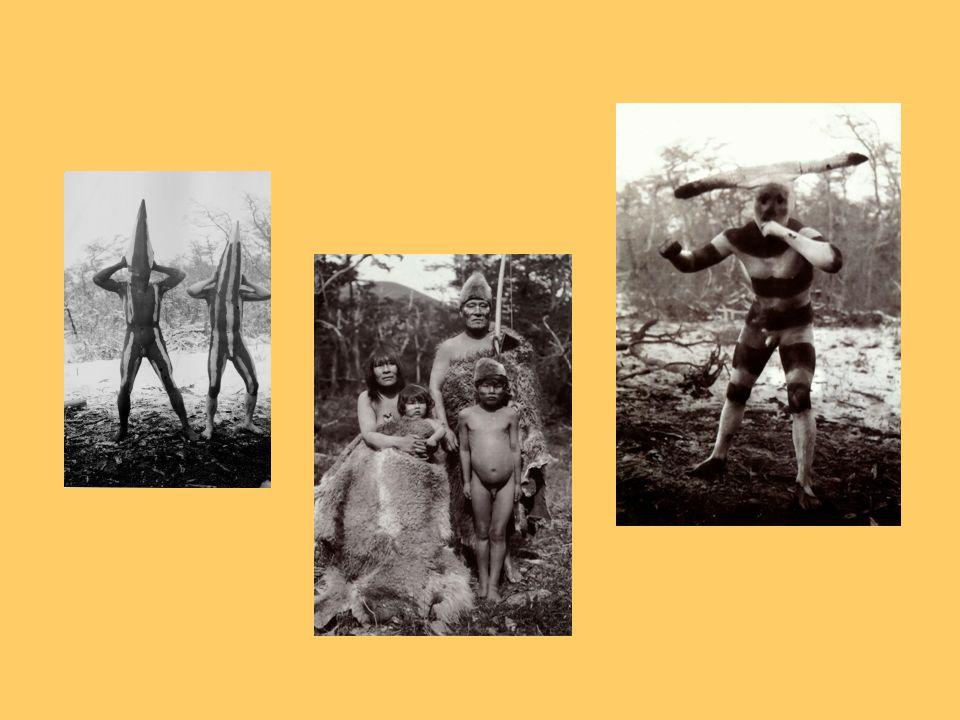 Onas (Selknam) Vivian como cazadores nómades que deambulaban en busca de su alimento a lo largo de tierra del fuego También llamados Selknam (hombre d