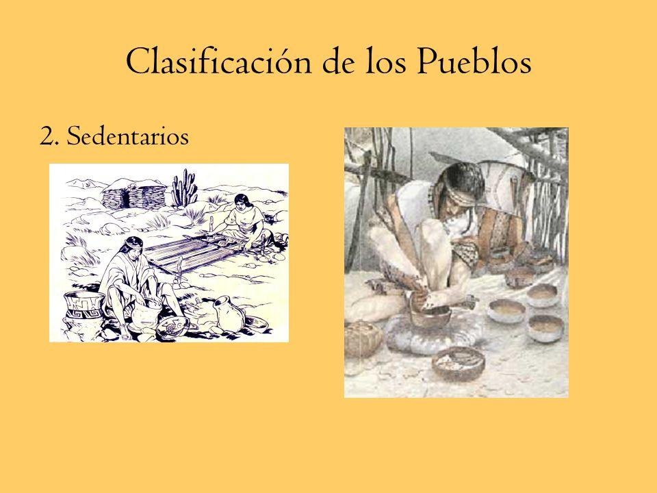 Clasificación de los Pueblos 1. Nómades a.Nómades Canoeros a. b. Nómades Pedestres