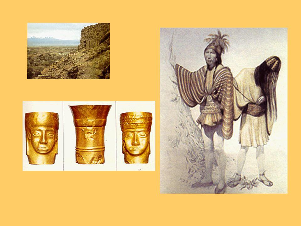 Atacameños Eran un pueblo sedentario ubicado en la hoya hidrográfica del Río Loa Su idioma era el Kunza Cultivaban la tierra mediante un sistema de te