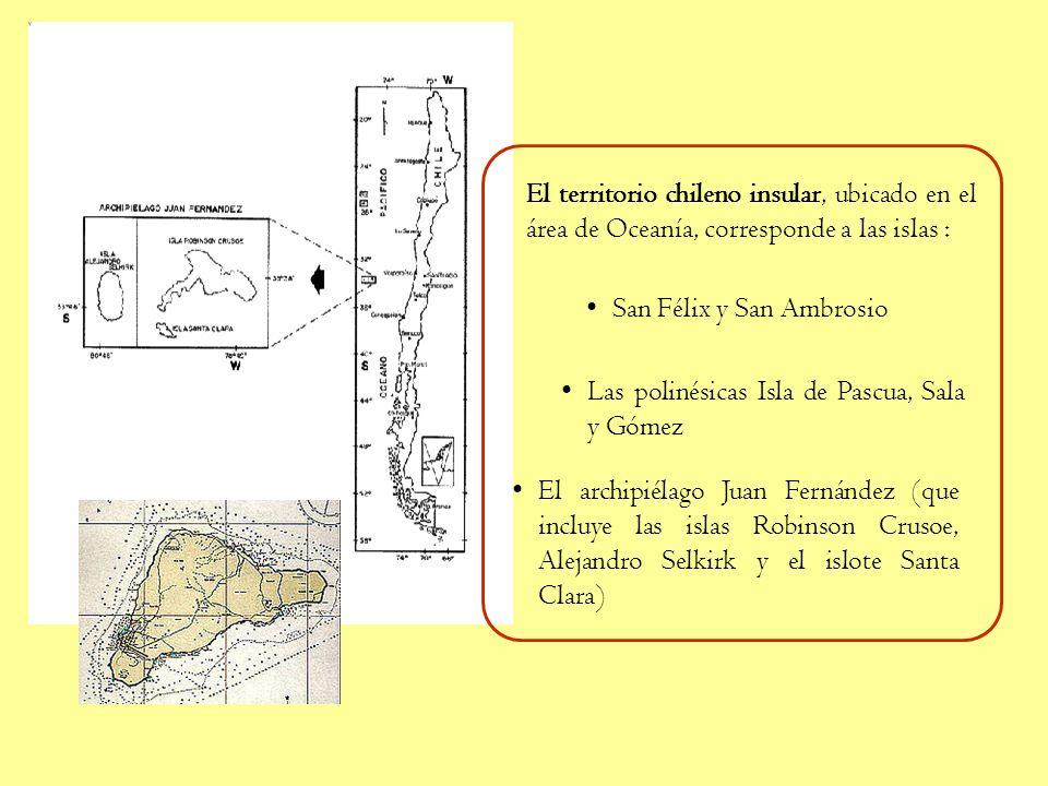 Chile continental: Emplazado en el continente Americano, el territorio nacional abarca desde: Límite Norte: 17°30 latitud sur (Línea de la Concordia)