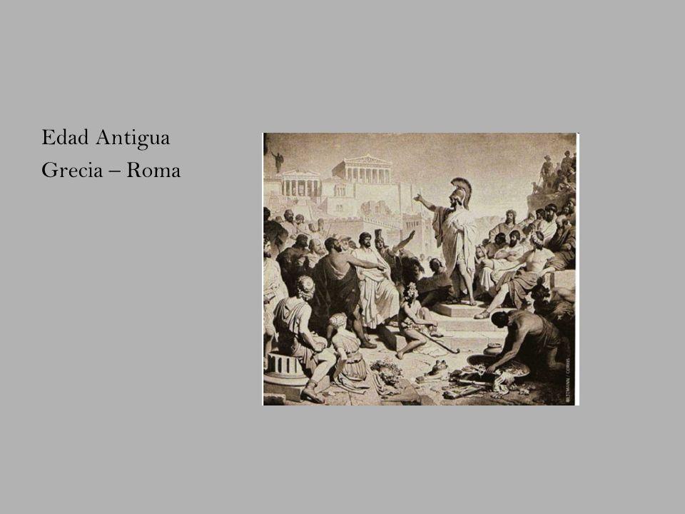 Edad Antigua Grecia – Roma