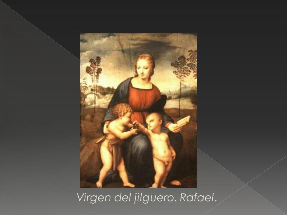 Virgen del jilguero. Rafael.