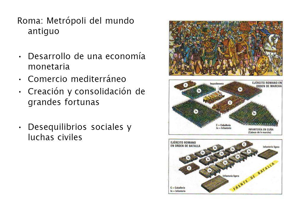 TRANSFORMACIONES NOBILITAS ECONÓMICAS SOCIO POLÍTICAS OLIGARQUÍA POLÍTICA CIUDADANOS SENADO OLIGARQUICO CRISIS POLÍTICA COMICIOS (asambleas) ESCLAVOS + MISERIA CIUDADANA ESCLAVITUD TRABAJO ACUMULACIÓN RIQUEZAS LATIFUNDIO EQUESTRES CRISIS ECONÓMICA DESIGUALDAD FUNCIONARIOS COMERCIALES CRISIS DE LA REPÚBLICA CRISIS DE LA REPÚBLICA Nueva Organización Sufre cambios Factores que provocan Crisis de Participacón Crisis de la Vieja Roma Crisis de Legitimidad Política Crisis en la Distribución Económica Crisis del Poder ¿crisis romana.