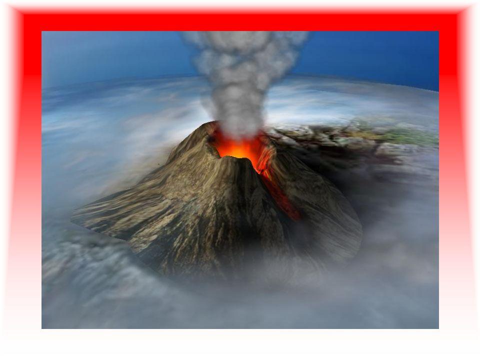 Volcanes La actividad volcánica es el conjunto de procesos por los cuales los materiales sólidos, líquidos y gaseosos del interior de la Tierra son forzados a salir a la superficie a través de grietas o fisuras Se producen por aumento de temperatura en las capa inferiores de la litosfera