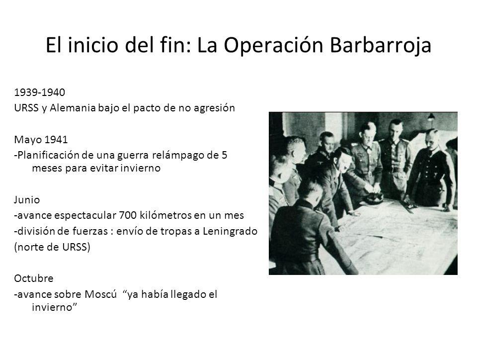 El inicio del fin: La Operación Barbarroja 1939-1940 URSS y Alemania bajo el pacto de no agresión Mayo 1941 -Planificación de una guerra relámpago de