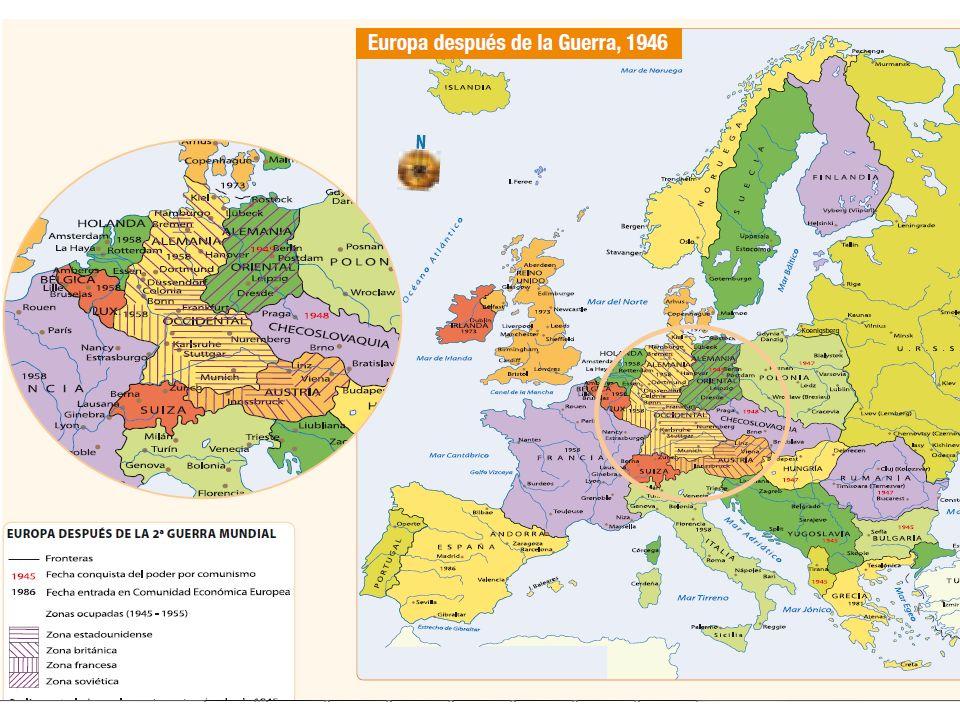 ¿Cuáles fueron las principales consecuencias territoriales de la Segunda Guerra Mundial?