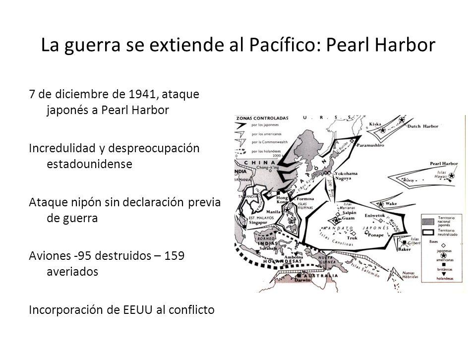 La guerra se extiende al Pacífico: Pearl Harbor 7 de diciembre de 1941, ataque japonés a Pearl Harbor Incredulidad y despreocupación estadounidense At