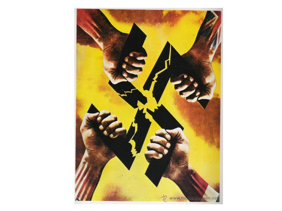 1943 Italia firma el armisticio 9-1943, declara la guerra a Alemania 10-1943 Mussolini es arrestado-liberado por nazi, organiza gobierno en norte de Italia Rendición de alemanes en la URSS (después del asedio a Stalingrado) Cambio del rumbo de la guerra