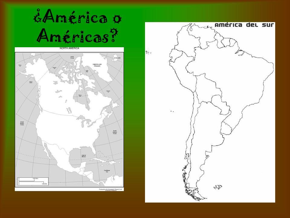 ¿América o Américas?