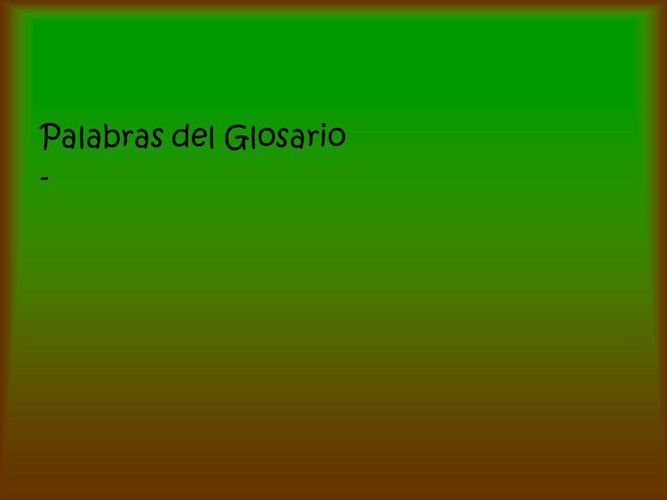 Palabras del Glosario -