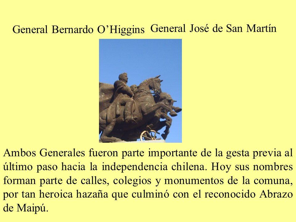 General Bernardo OHiggins General José de San Martín Ambos Generales fueron parte importante de la gesta previa al último paso hacia la independencia