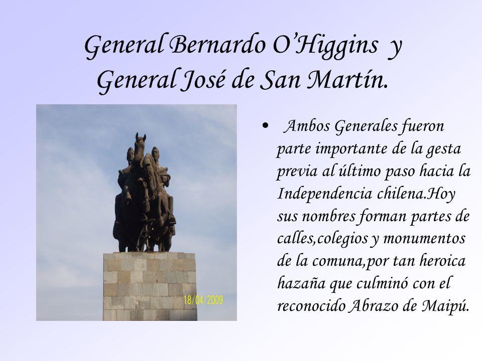 General Bernardo OHiggins y General José de San Martín. Ambos Generales fueron parte importante de la gesta previa al último paso hacia la Independenc
