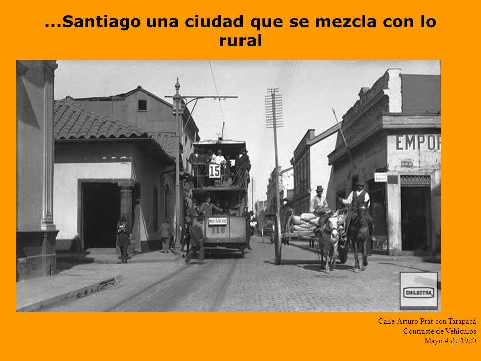 El corazón del centro de Santiago Ahumada cerca de Huérfanos Mayo 4 de 1920