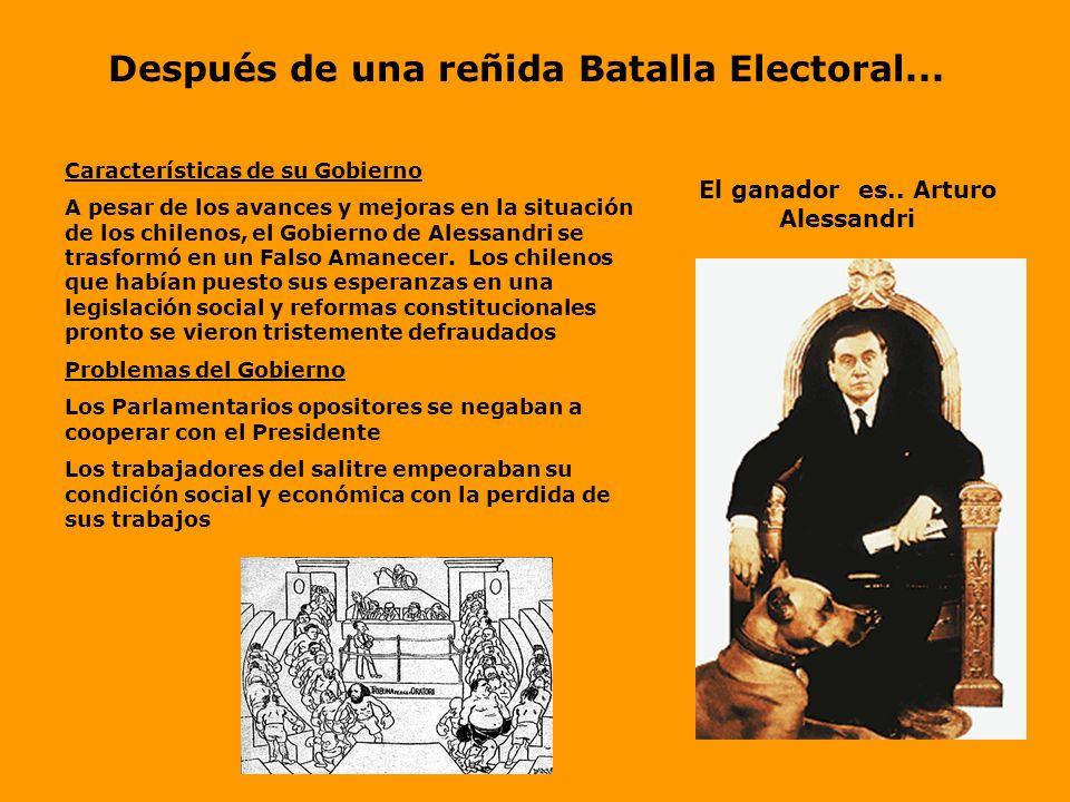 El León de Tarapacá encanta a la Querida Chusma Sobre Alessandri importantes sectores de las clases medias y trabajadoras fueron atraídas por la perso