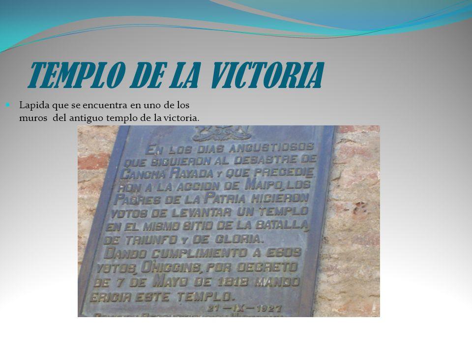 TEMPLO DE LA VICTORIA Lapida que se encuentra en uno de los muros del antiguo templo de la victoria.