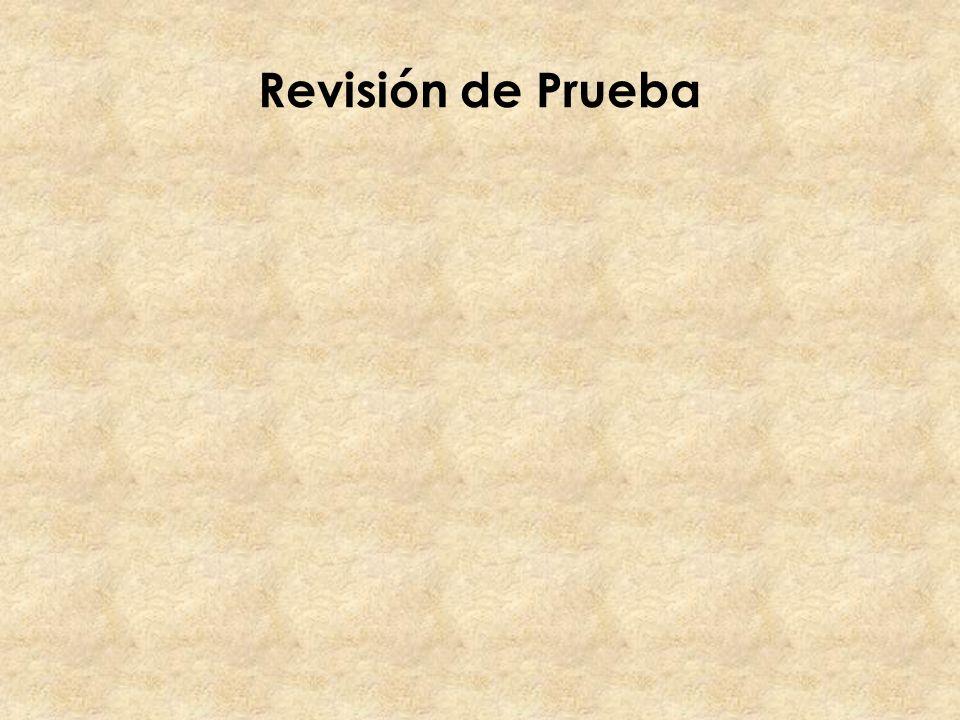 Revisión de Prueba