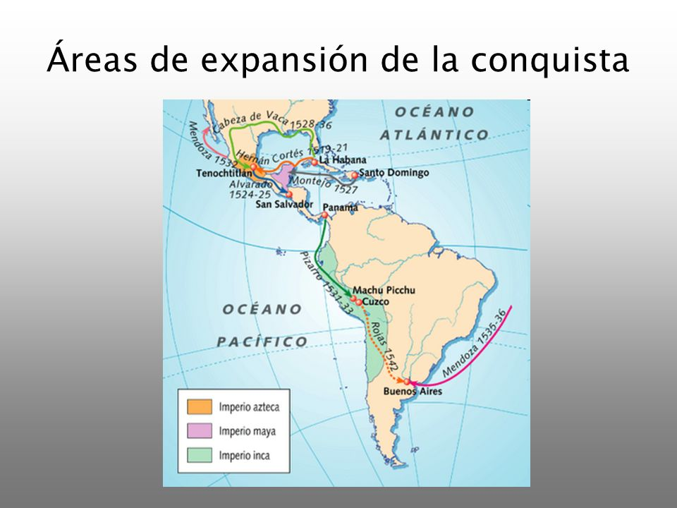 Áreas de expansión de la conquista