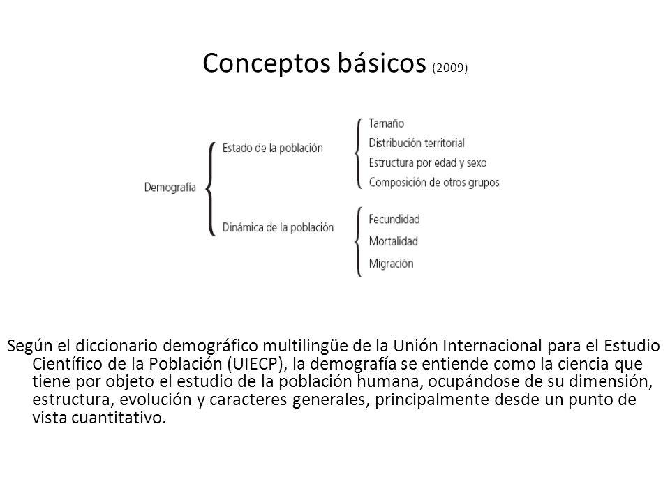 Conceptos básicos (2009) Según el diccionario demográfico multilingüe de la Unión Internacional para el Estudio Científico de la Población (UIECP), la