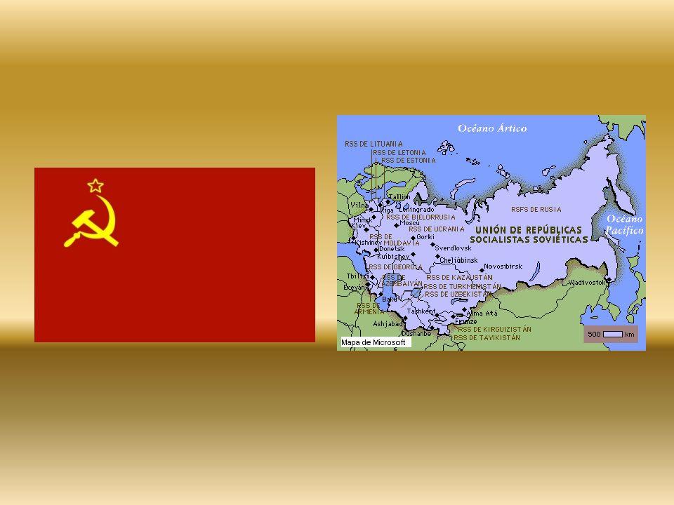 Fin de la URSS A pesar de las reformas, la URSS cayó definitivamente cuando varios de sus estados declararon su independencia.
