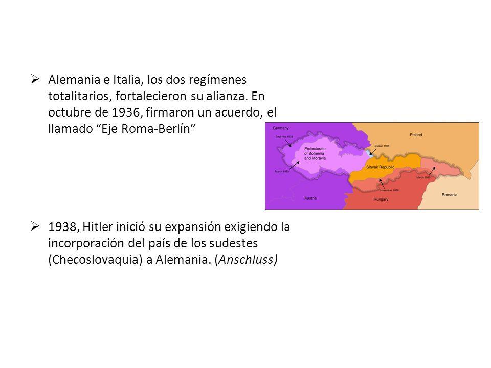 Antecedentes de la Segunda Guerra Mundial Tratado de Versalles: (Alemania establecía la Revisión de los acuerdos) En 1935, Hitler anunció que rechazab