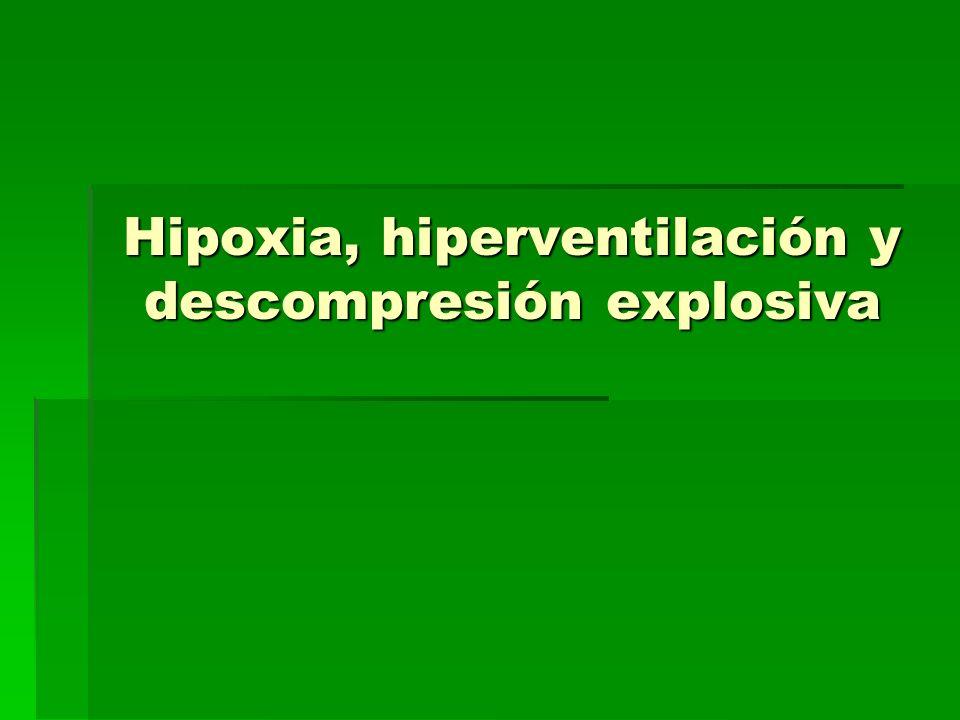 Hipoxia, hiperventilación y descompresión explosiva