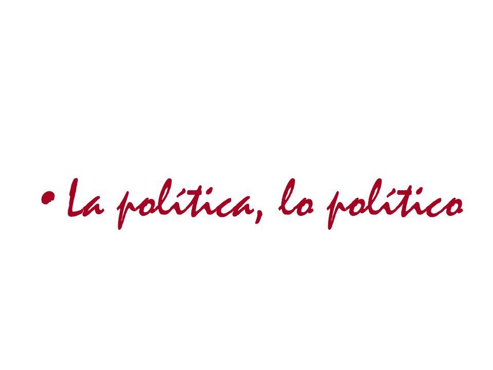 La política, lo político