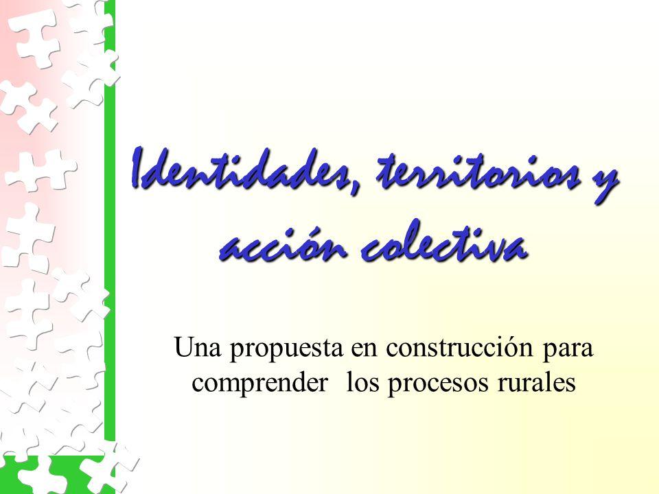Identidades, territorios y acción colectiva Una propuesta en construcción para comprender los procesos rurales